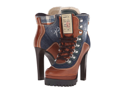DSQUARED2 - Ankle Boot (Blue) Women's Lace-up Boots