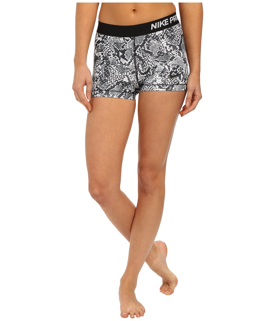 Nike - Pro 3 Heghts Vixen Shorts (White/Black/Black) Women's Shorts