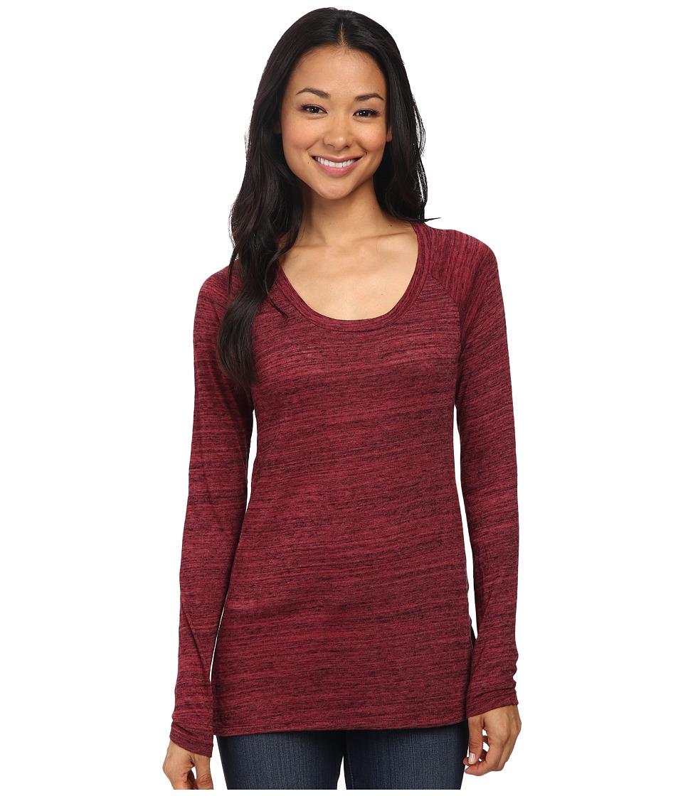 Alternative - Eco Space Dye Jersey One Way Top (Boysenberry) Women