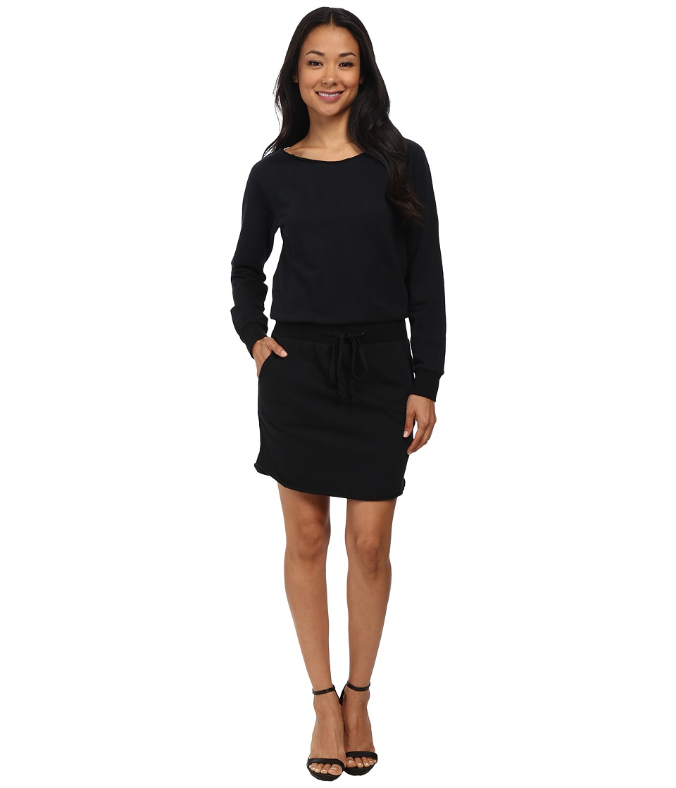 Alternative - Eco Micro Fleece Stowaway Dress (Black) Women's Dress