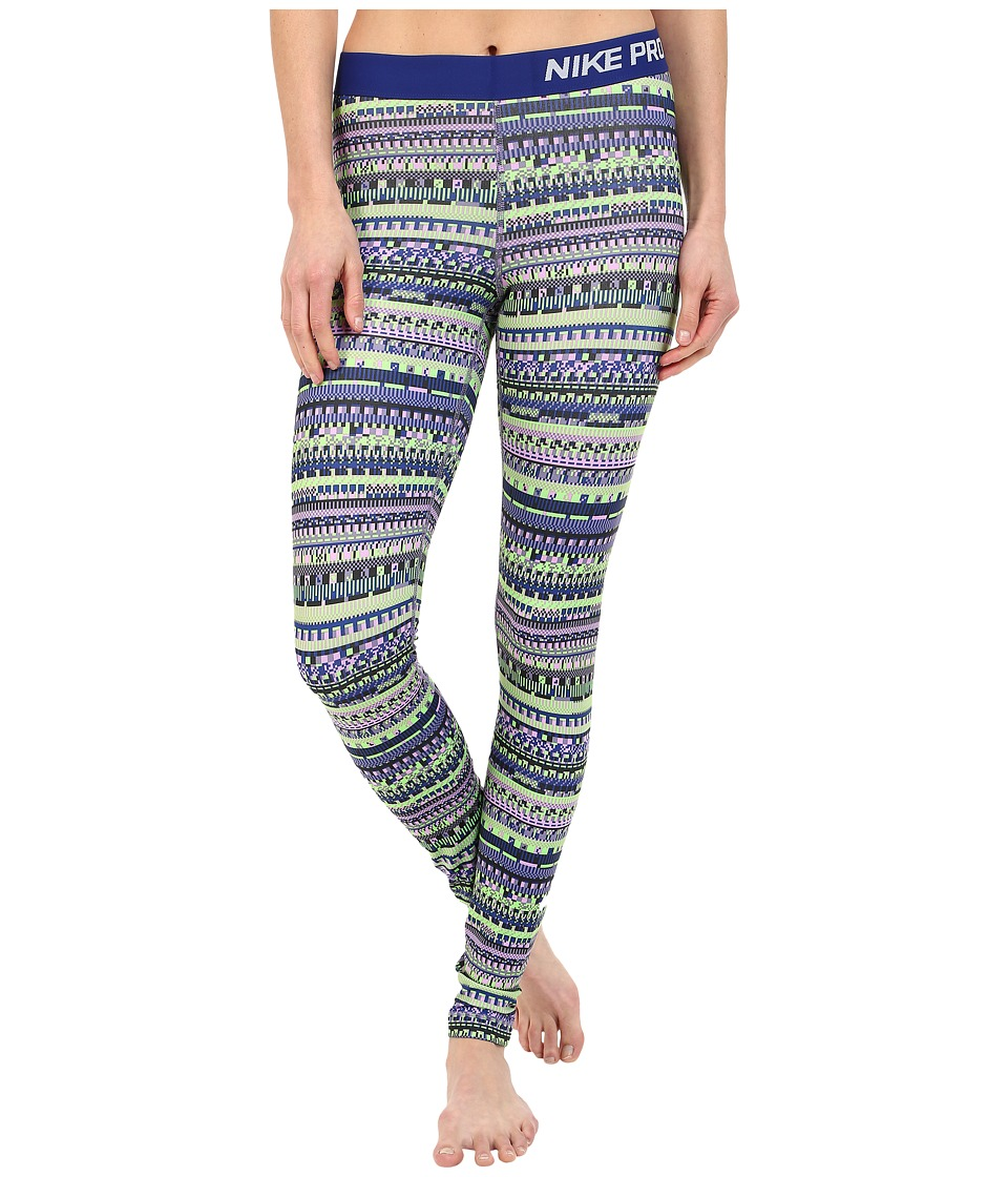 Nike - Pro Warm 8 Bit Tights (Washed Purple/Black/Washed Purple/White) Women's Clothing
