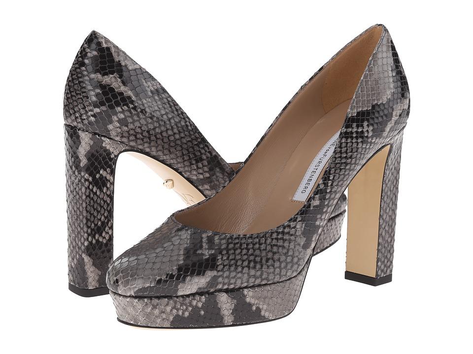 Diane von Furstenberg - Michelle (Grey Embossed Python) High Heels