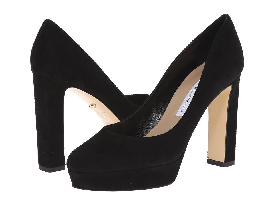 Diane von Furstenberg - Michelle (Black Kid Suede) High Heels