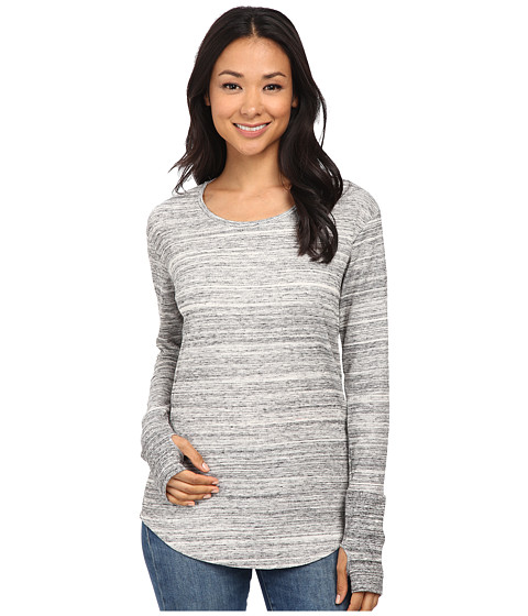 Alternative - Eco Space Dye Thermal Roundabout Top (Urban Grey) Women's Clothing