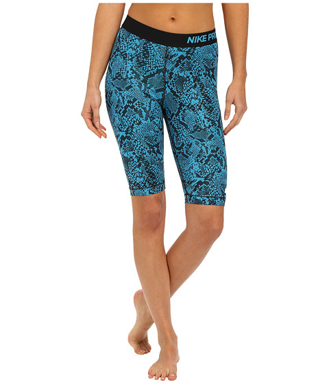 Nike - Pro 11 Hghts Vixen Shorts (Blue Lagoon/Black/White) Women's Shorts