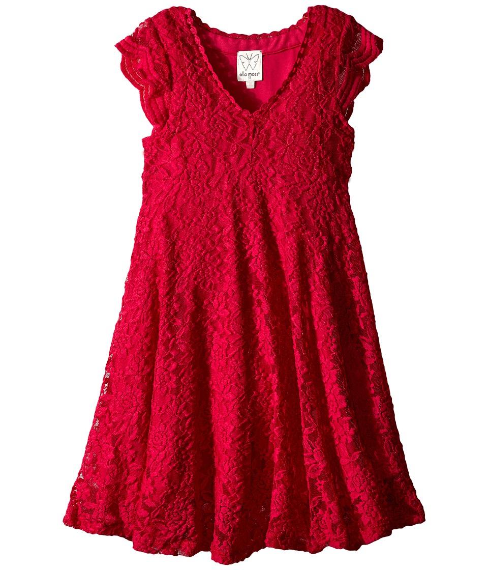 Ella Moss Girl - Carole Lace Dress (Big Kids) (Fuchsia) Girl
