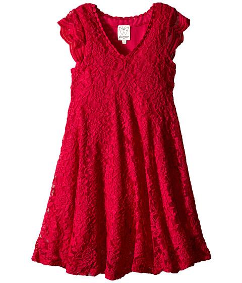 Ella Moss Girl - Carole Lace Dress (Big Kids) (Fuchsia) Girl's Dress