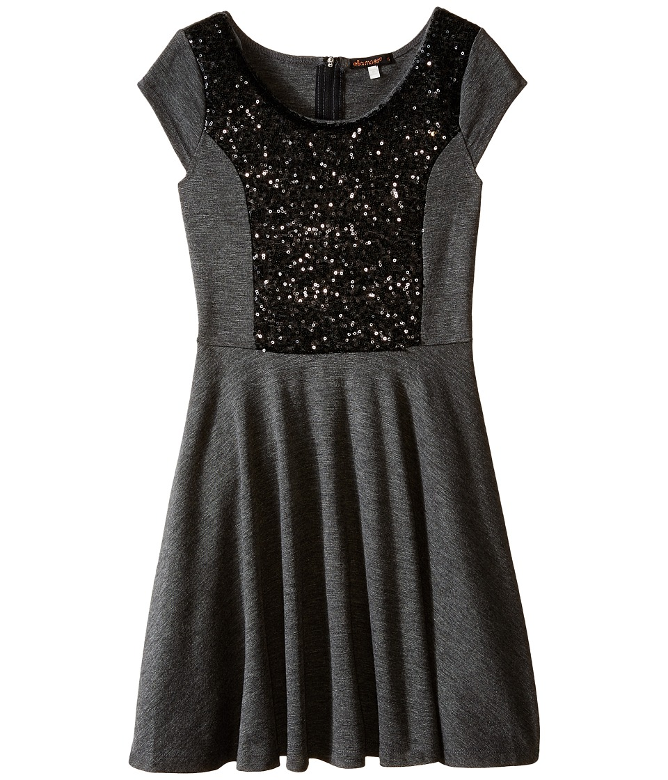 Ella Moss Girl - Sybil Dress (Big Kids) (Charcoal Grey) Girl