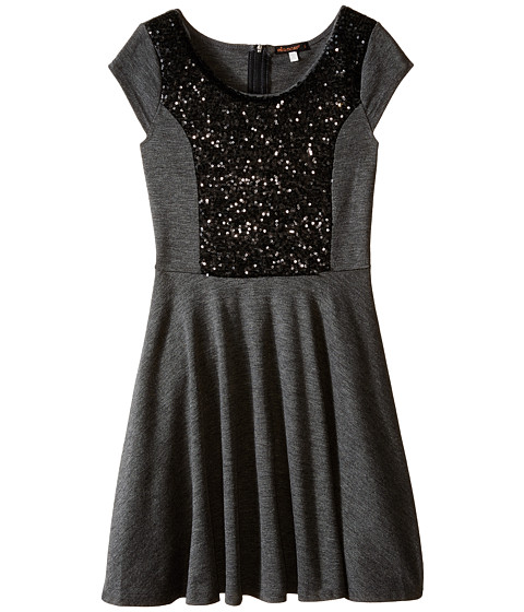 Ella Moss Girl - Sybil Dress (Big Kids) (Charcoal Grey) Girl's Dress
