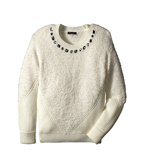 Ella Moss Girl - Sonia Pull Over Sweater (Big Kids) (Off White) Girl's Sweater