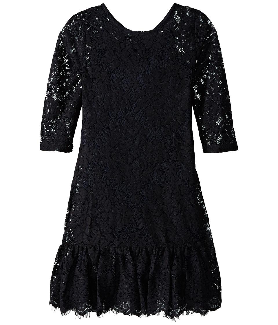 Ella Moss Girl - Rose Dress (Big Kids) (Black) Girl's Dress