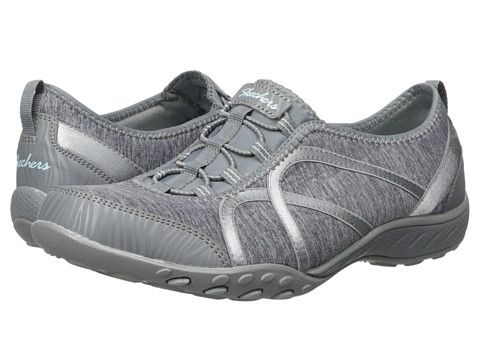 SKECHERS - Breath - Easy - Fortune (Grey) Women's Shoes