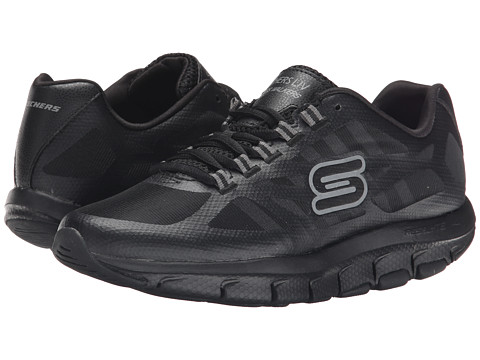 skechers shape ups black