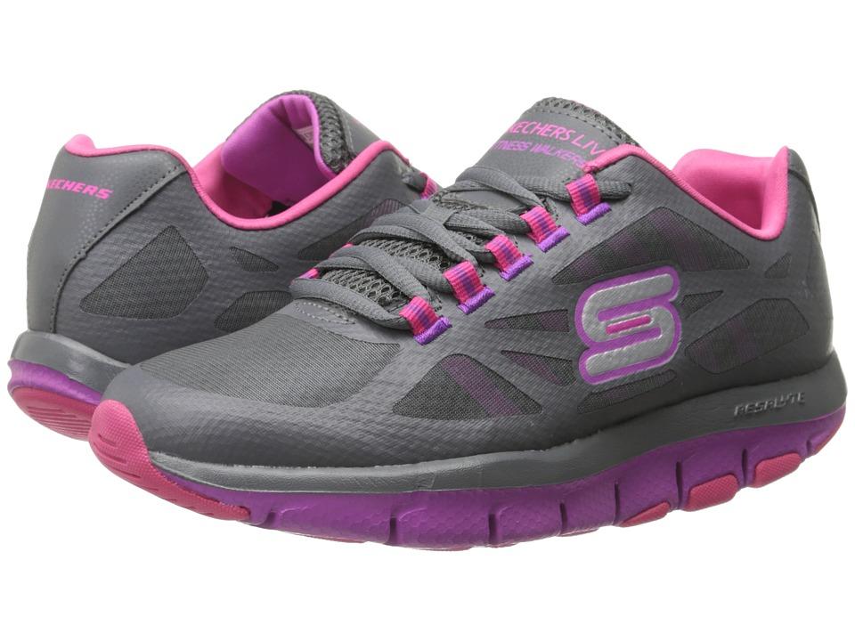 SKECHERS - Liv - Bottom Line (Shape Ups) (Grey Pink) Women's Shoes