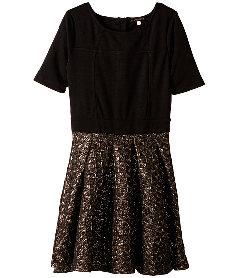 Ella Moss Girl - Fit N Flare Dress (Big Kids) (Black) Girl