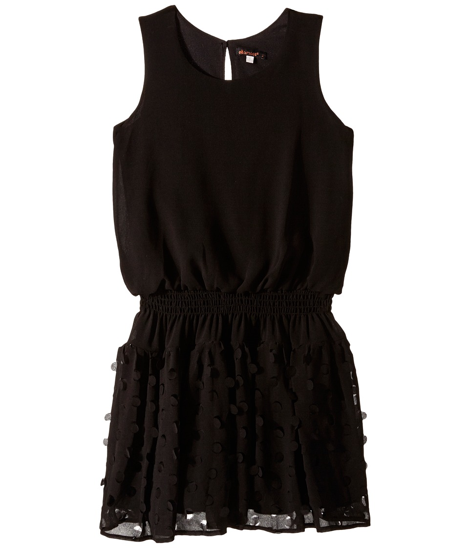 Ella Moss Girl - Paris Sleeveless Dress (Big Kids) (Black) Girl's Dress