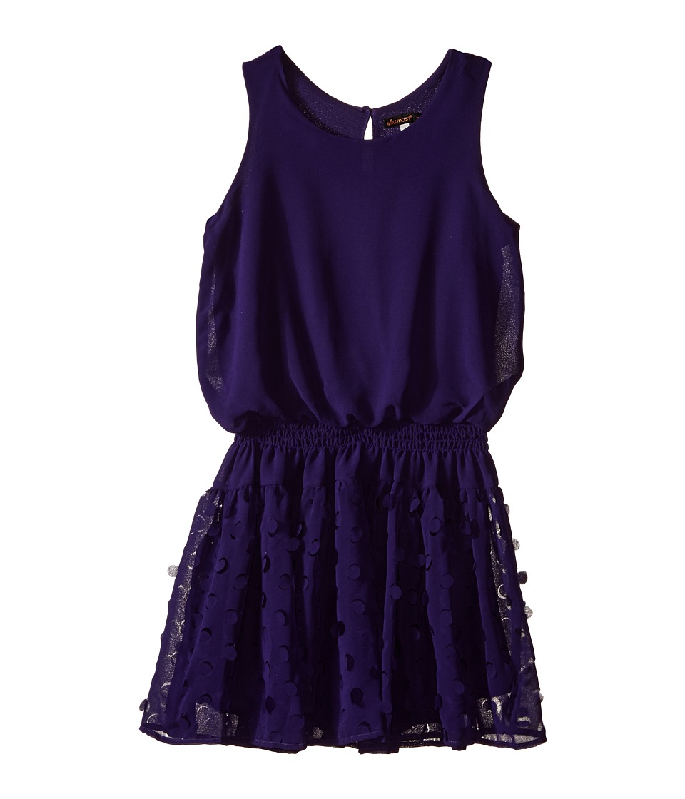 Ella Moss Girl - Paris Sleeveless Dress (Big Kids) (Purple) Girl's Dress