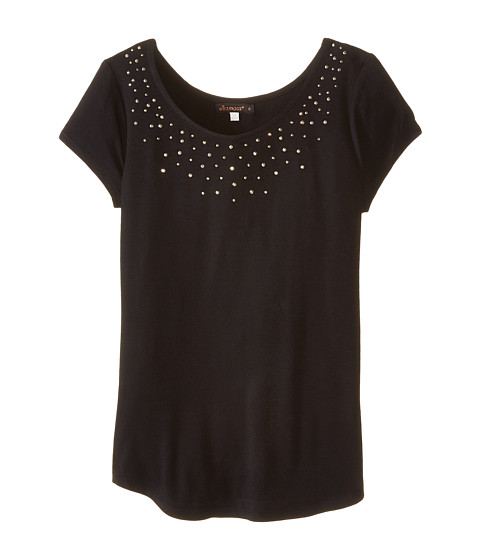 Ella Moss Girl - Willa Knit Top (Big Kids) (Black) Girl's T Shirt
