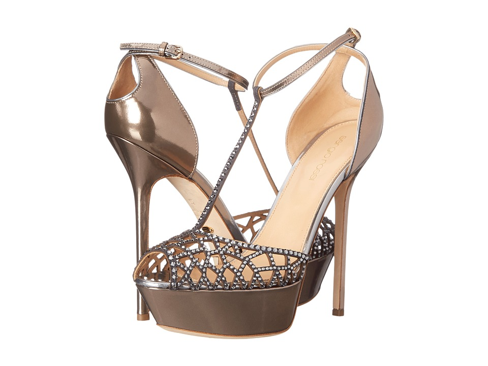 Sergio Rossi - Tresor Heel (Rose Gold) High Heels