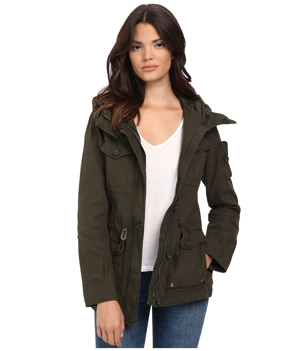 Levi's(r) - Washed Cotton Fashion Four-Pocket Military w/ Hood (Army Green) Women's Clothing