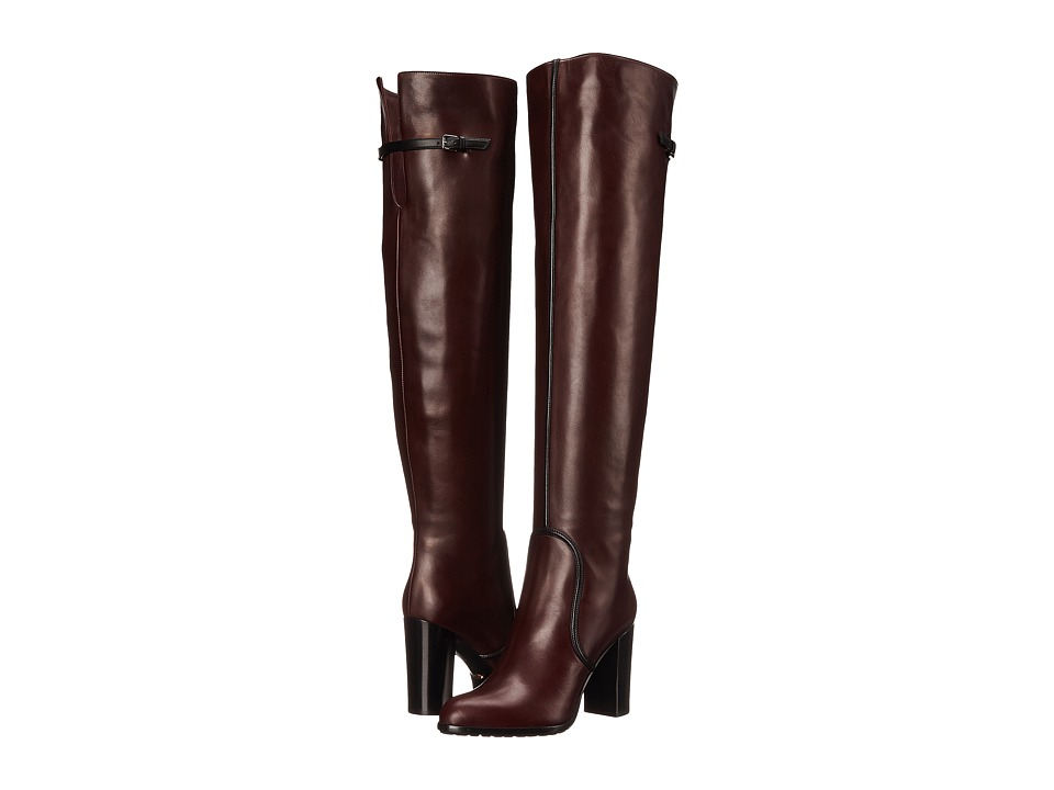 Sergio Rossi - Shannen Over The Knee (Burgundy) Women