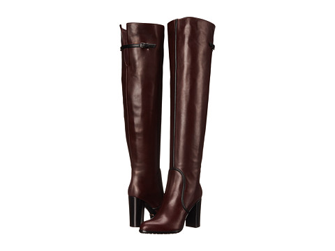Sergio Rossi - Shannen Over The Knee (Burgundy) Women's Boots