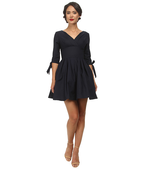 Unique Vintage - Short Diana Dress (Navy) Women