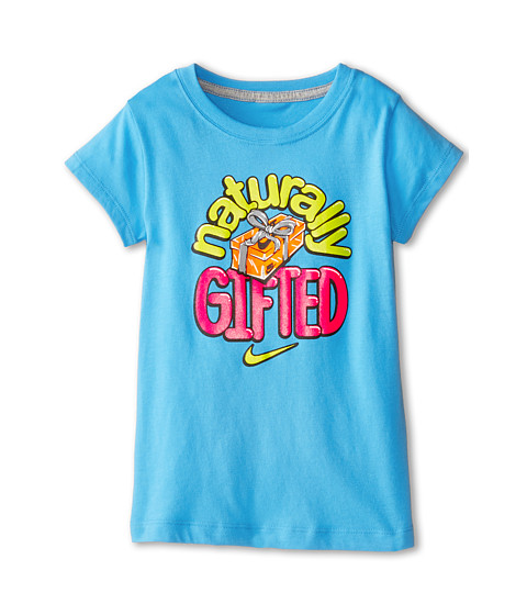 Nike Kids - Naturally Gifted Short Sleeve Tee (Little Kids) (Vivid Blue) Girl