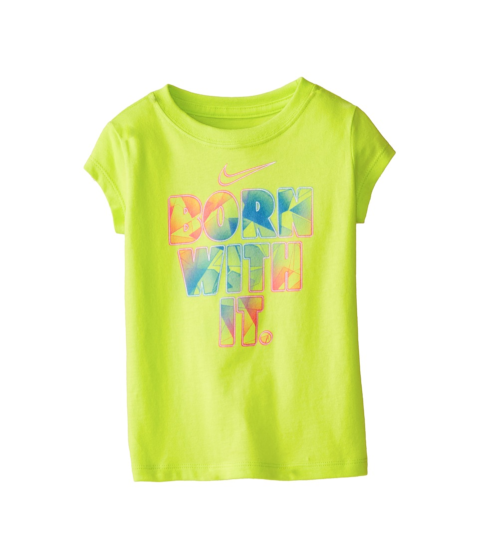 Nike Kids - Born with It Tee (Toddler) (Cyber) Girl's T Shirt