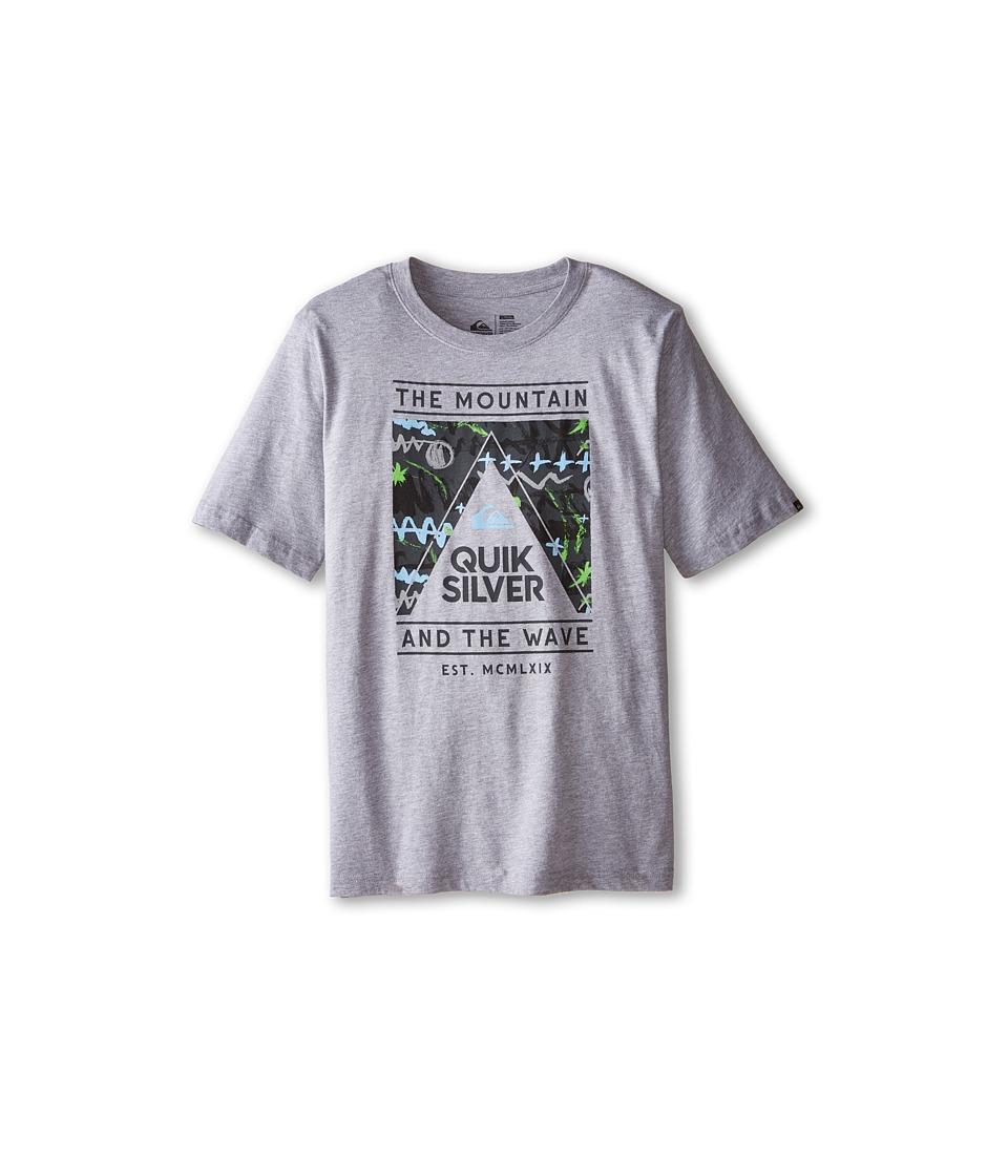 Quiksilver Kids - Wave Core T-Shirt (Big Kids) (Grey Heather) Boy