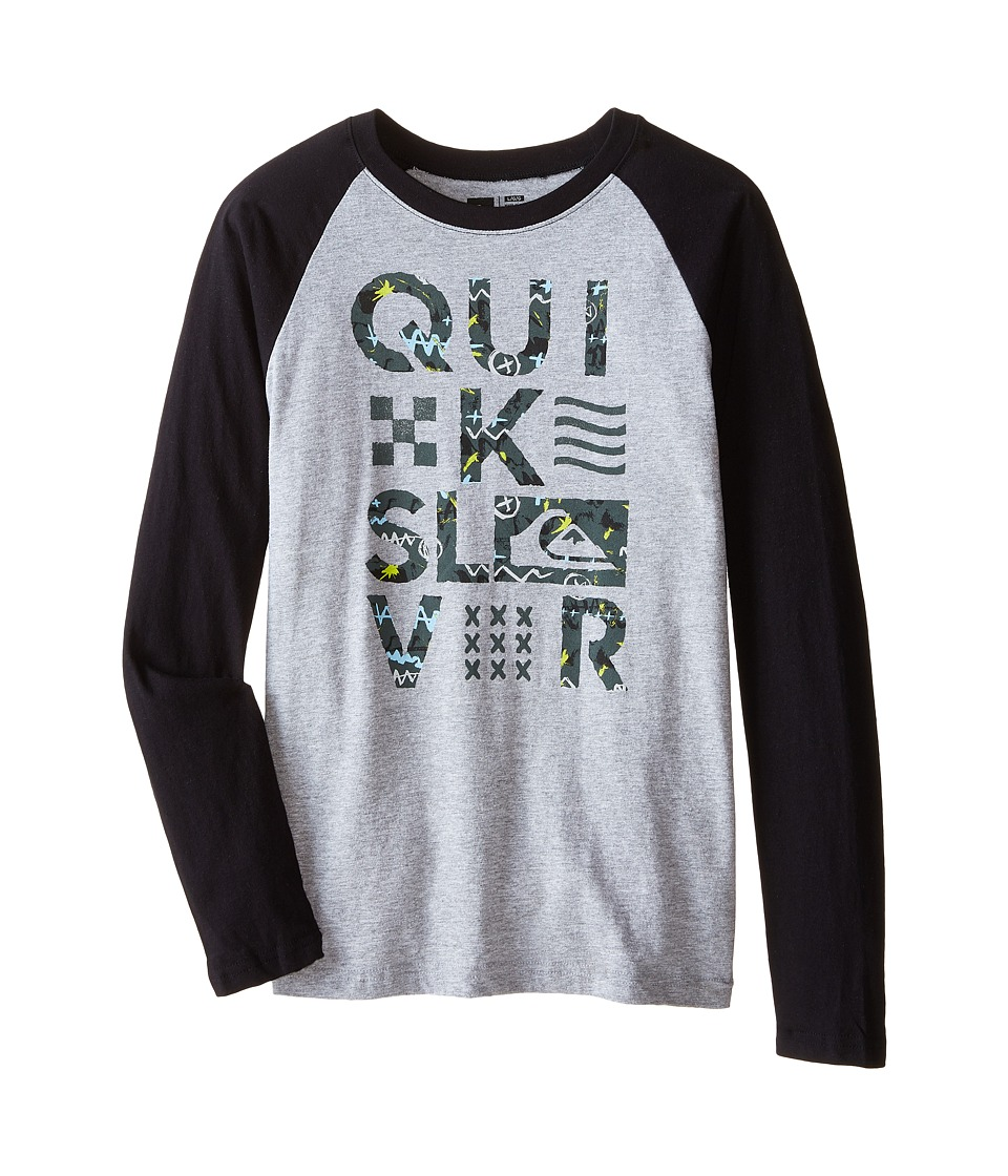 Quiksilver Kids - Too Quik T-Shirt (Big Kids) (Grey Heather) Boy's T Shirt