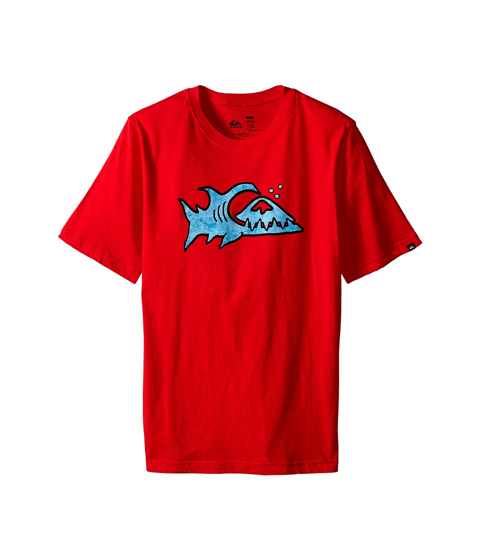 Quiksilver Kids - Fin Logo T-Shirt (Big Kids) (Quik Red) Boy