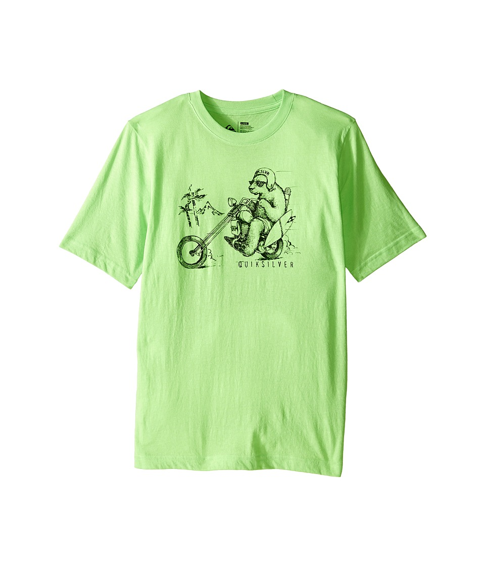Quiksilver Kids - Bear Chopper T-Shirt (Big Kids) (Neon Green Heather) Boy's T Shirt