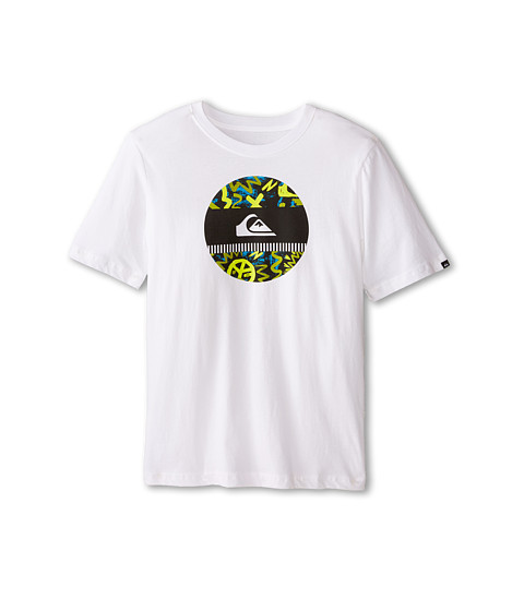 Quiksilver Kids - Disco Biscuit T-Shirt (Big Kids) (White) Boy's T Shirt