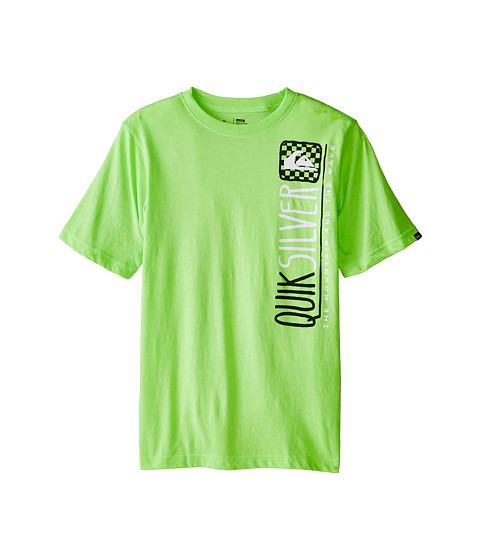 Quiksilver Kids - Handdone T-Shirt (Big Kids) (Neon Green Heather) Boy