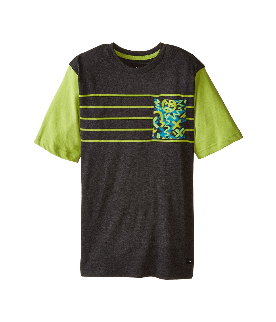 Quiksilver Kids - Cave Crew T-Shirt (Big Kids) (Black Heather) Boy's T Shirt