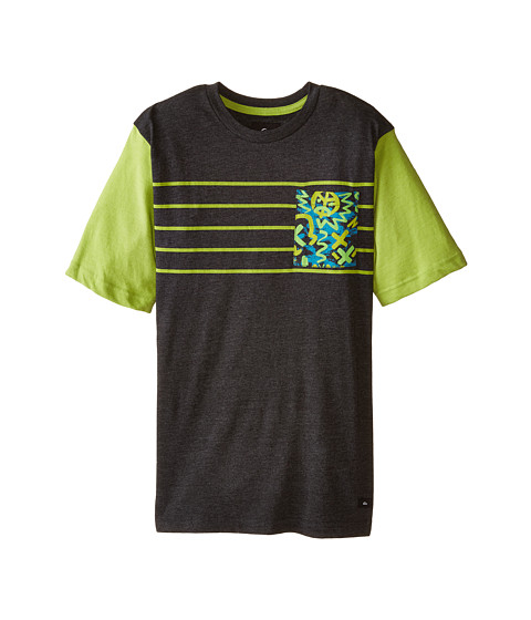 Quiksilver Kids - Cave Crew T-Shirt (Big Kids) (Black Heather) Boy
