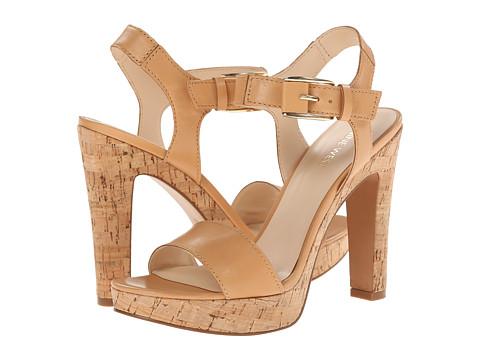 Nine West - Elenny (Natural/Natural Leather) High Heels
