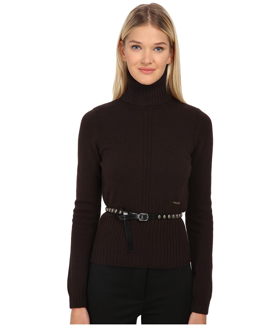 DSQUARED2 - Biker Knit Turtleneck (Navy/Blue) Women's Sweater