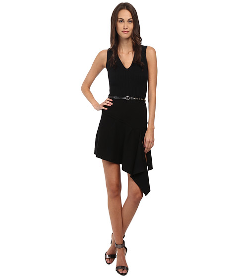 DSQUARED2 - Biker Knit Dress (Black) Women's Dress