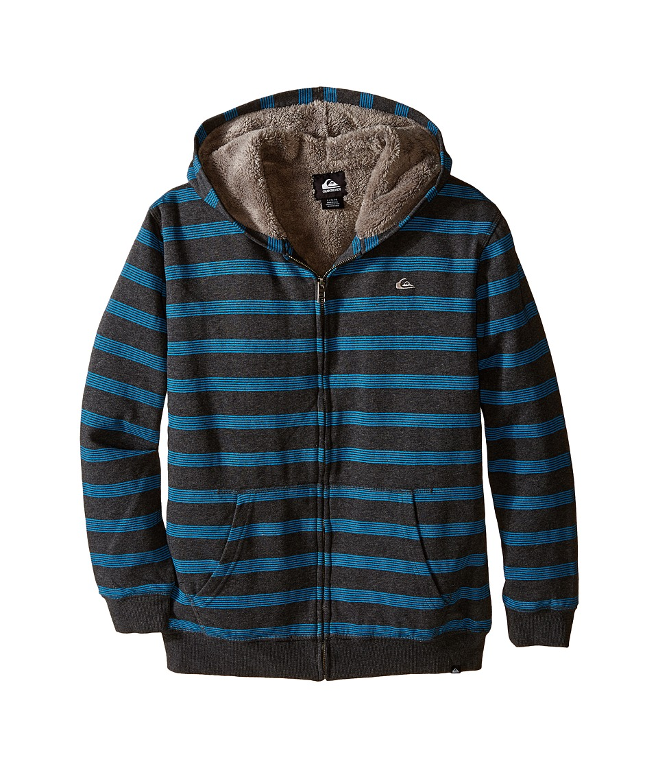 Quiksilver Kids - Tracker Sherpa Jacket (Big Kids) (Charcoal Heather) Boy's Coat
