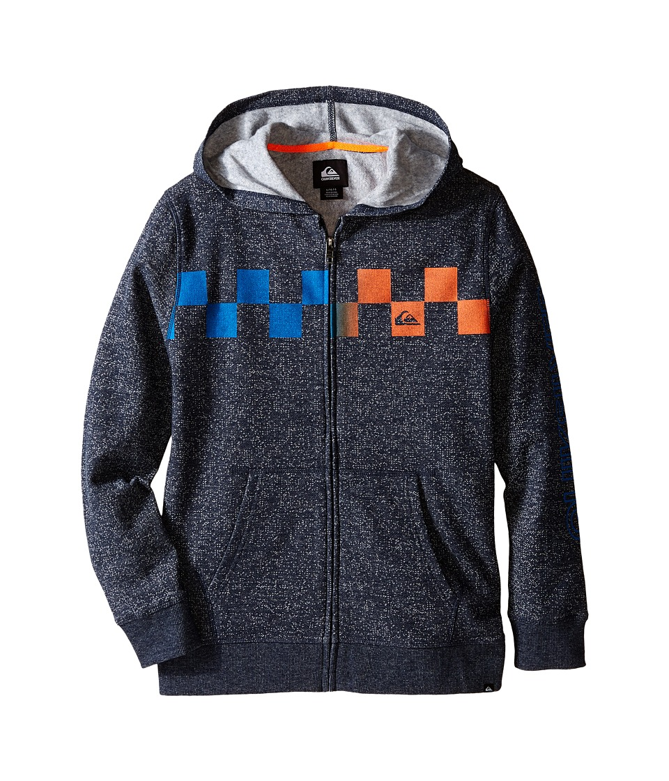 Quiksilver Kids - Checked Out Hoodie (Big Kids) (Navy Blazer) Boy's Sweatshirt