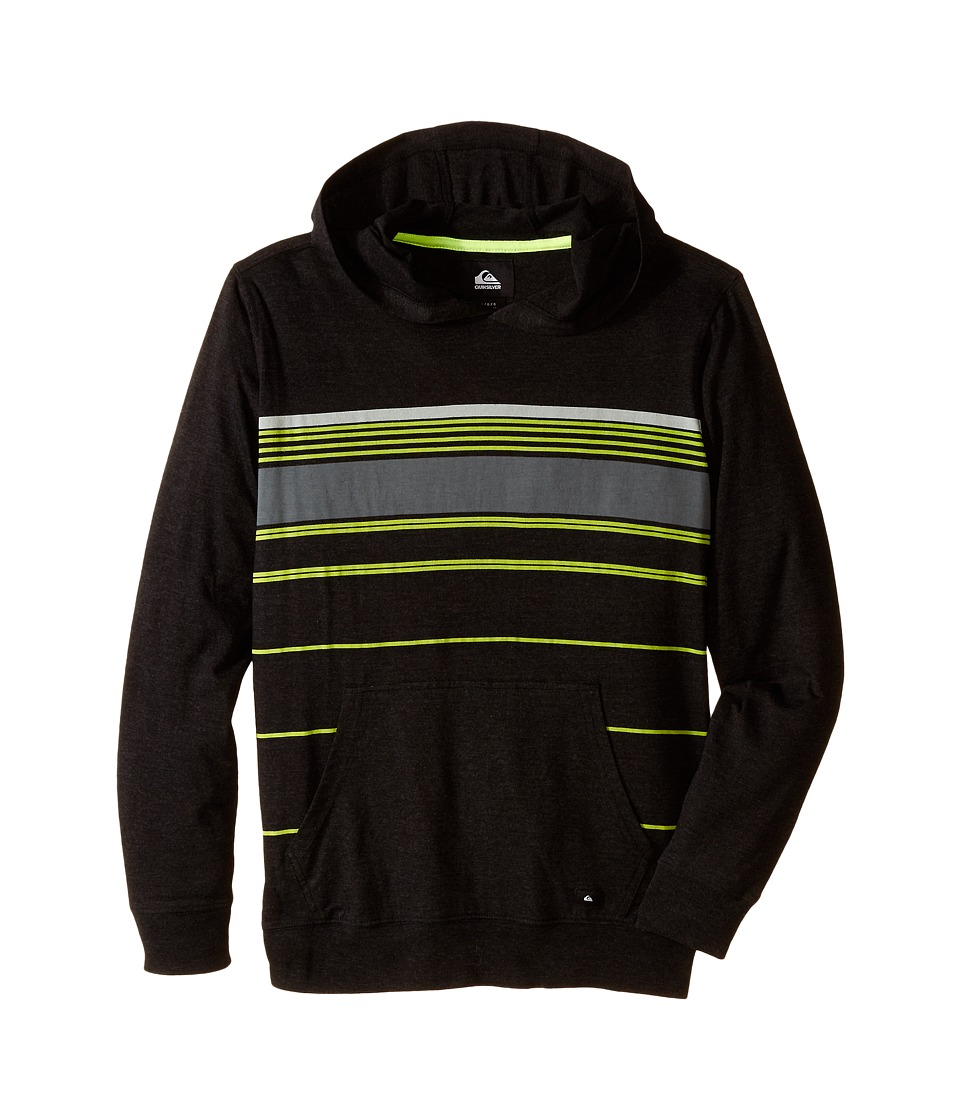 Quiksilver Kids - Horizon Hoodie (Big Kids) (Black Heather) Boy's Sweatshirt