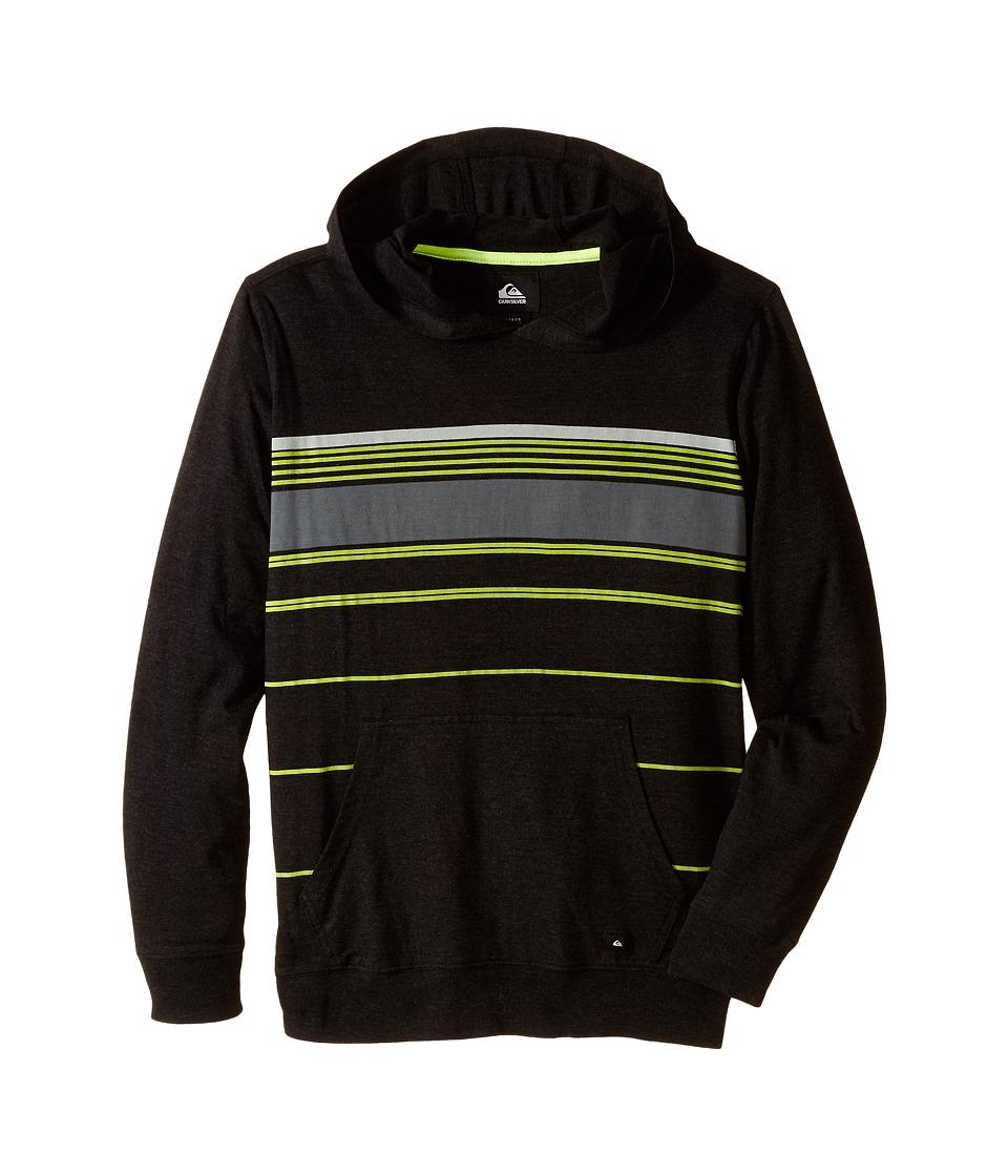Quiksilver Kids - Horizon Hoodie (Big Kids) (Black Heather) Boy's Sweatshirt