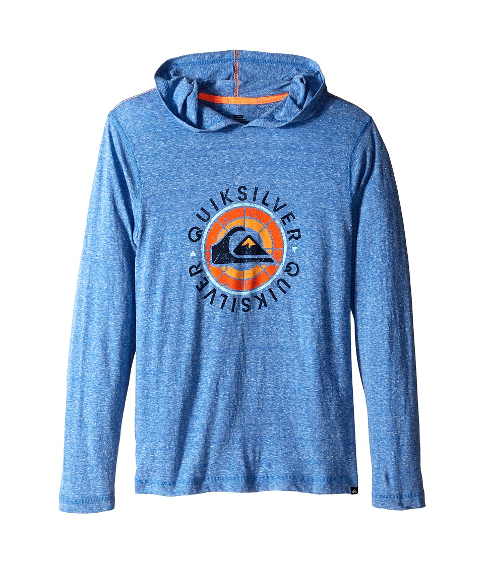Quiksilver Kids - Hit It Hoodie (Big Kids) (Victoria Blue Heather) Boy's Sweatshirt