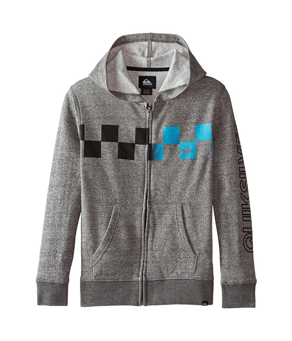 Quiksilver Kids - Checked Out Hoodie (Big Kids) (Dark Shadow) Boy's Sweatshirt