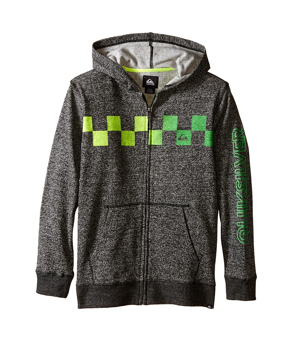 Quiksilver Kids - Checked Out Hoodie (Big Kids) (Black) Boy's Sweatshirt