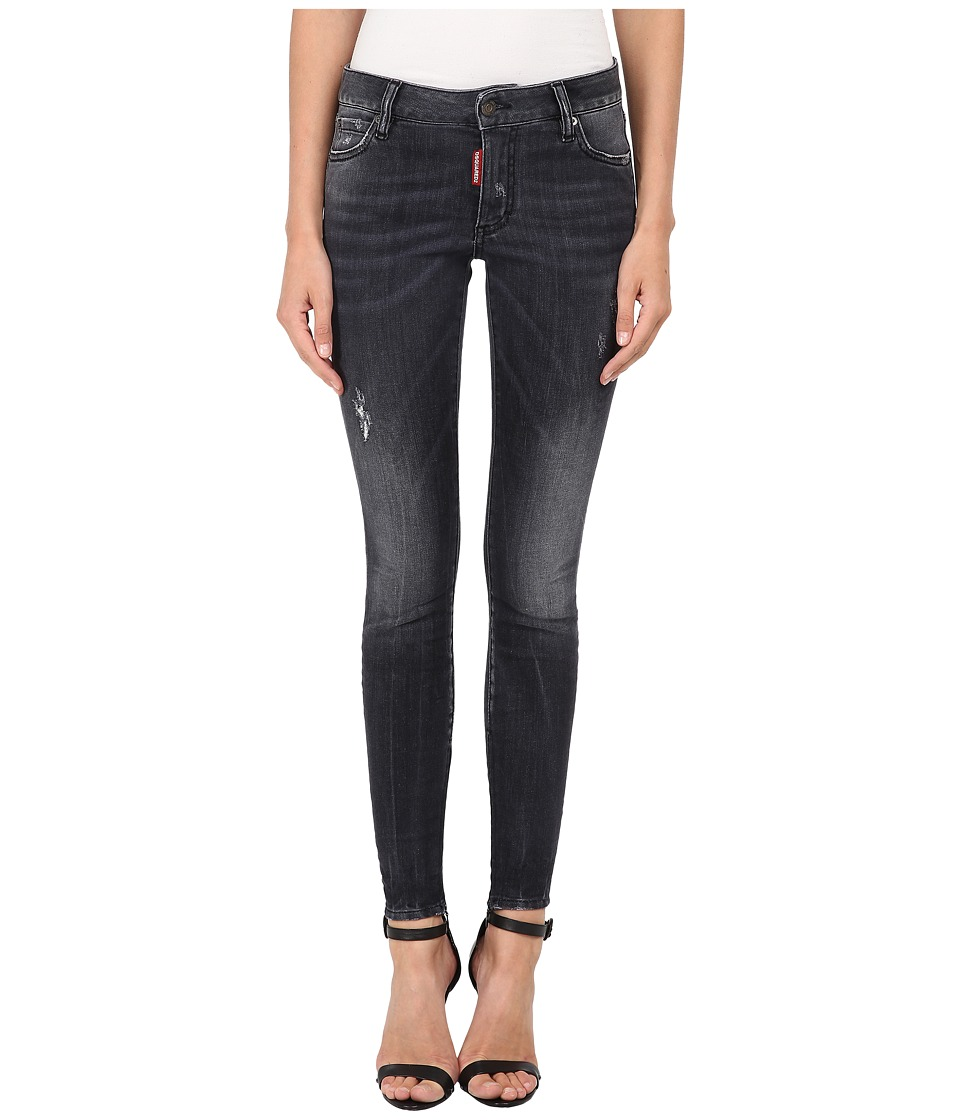 DSQUARED2 - Medium Waist Twiggy Jeans (Black) Women's Jeans