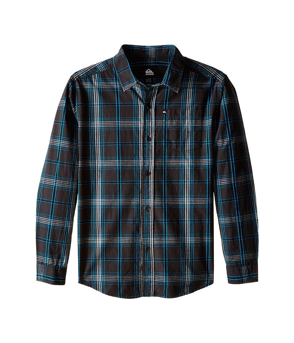 Quiksilver Kids - Zapped Shirt (Big Kids) (Dark Shadow) Boy's Long Sleeve Button Up