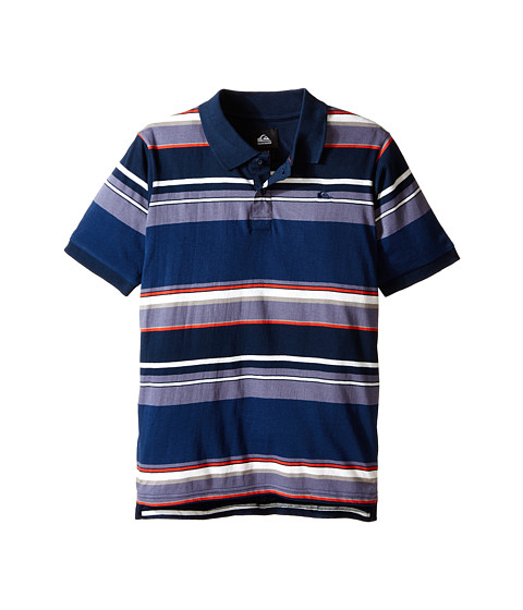 Quiksilver Kids - Decay Stripe Polo (Big Kids) (Navy Blazer) Boy